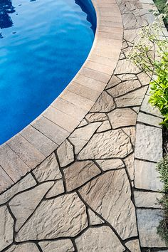 Looking to give your poolside, seat walls or steps a clean, softer appearance? Our Bullnose pool coping is the perfect choice. See for yourself! Swimming Pools Backyard, Swimming Pool Designs, Pool Decks, Outdoor Steps, Outdoor Fire, Outdoor Decor, Patio Slabs, Flagstone Patio, Terrace Garden