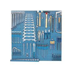 Gedore 100-Piece Metric Mechanic's Tool Set Workshop Storage, Garage Workshop, Tool Storage, Garage Tool Organization, Garage Tools, Tool Box Diy, Tool Set, Tool Board, Mechanic Tools