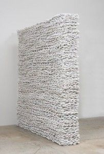 Featured roped installation in white by Orly Genger - Image from Pinterest.com