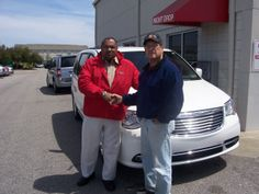 James form Wilson NC has started enjoy the roomy space of this 2014 Chrysler Town and Country. Thank you James for your business. His salesman is Tony Oxendine.
