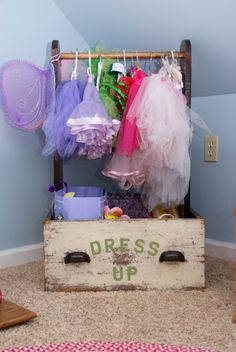 dress up storage for all those super hero and princess costumes