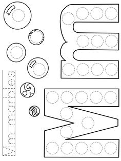 Back To School Activities, Color Activities, Preschool Activities, Numbers Preschool, Preschool Worksheets, Toddler Sunday School, Alphabet Letter Crafts, Handwriting Worksheets, Teaching The Alphabet