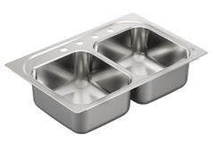 Buy the Moen Brushed/Satin Stainless Direct. Shop for the Moen Brushed/Satin Stainless 2000 Series Drop In Double Basin Stainless Steel Kitchen Sink with 1 Faucet Hole and Center Drains and save.