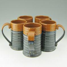 Handmade Beer Stein Jumbo Coffee Mug Pottery by TwistedRiverClay, $38.00