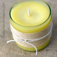 How to Cut Bottles to Make Homemade Beeswax Candles