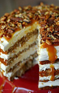 Caramel Apple Mousse Cake Recipe