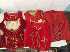 VINTAGE LOT 5 RED CHILD YOUTH VESTS SPANISH SPAIN BULL FIGHTING COSTUME FOREIGN  | eBay