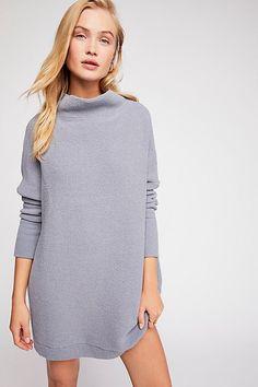 Free People Ottoman Slouchy Tunic - Chambray S Tunic Sweater, Grey Sweater, Fall Capsule Wardrobe, Fall Looks, Autumn Winter Fashion, Fall Fashion, Winter Style, Style Fashion, Fashion Trends