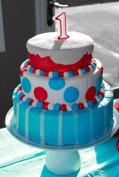 Logan's Dr. Seuss First Birthday | CatchMyParty.com