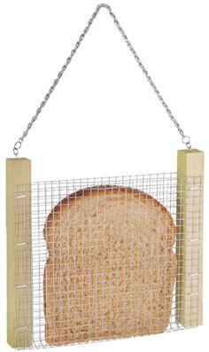 ООО Садовник: Кормушка для птиц (металл.сетка+дерево, 17x17x2cm, 0,1кг) FB36