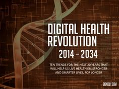 10 Digital Health Trends for the Next 20 Years by Stephen Davies via slideshare Men's Health Fitness, Psychological Well Being, Heath And Fitness, Health Trends, Future Trends, Natural Medicine, Health And Wellbeing, Physical Activities, Health Problems