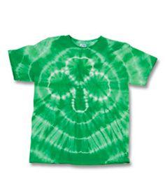 Shamrock Tie Dye Shirt: Threads