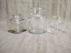 Vintage Glass Inkwell / Bottle Collection / 2 by dewdropdaisies