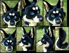 A really well done fursuit head.  C: