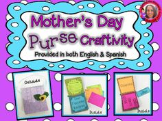 Your students can create a thoughtful gift for their mom, this Mother's Day with this craft.  Students will use 3 lunch size paper bags to create a mini-scrap book inside the paper purse.  Written directions are included, however, if you are like me, and have a hard time with directions when it comes to crafting, a video is included to show you the step-by-step instructions.Scrapbook pages include:*poem about mom*coupons*recipe cards*favorite memory with mom writing activity*fingerprint…