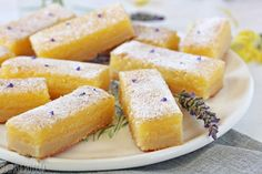 These Lavender Lemon Bars have lavender-scented shortbread and a creamy, tart, lemon filling. They're delicious and refreshing!