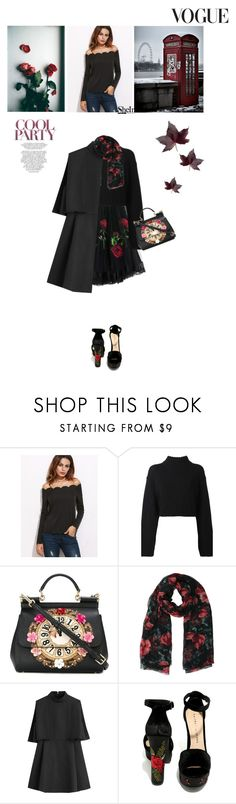 """With your face all made up, living on a screen, low on self esteem, so you run on gasoline."" by kristinadyomina ❤ liked on Polyvore featuring Dolce&Gabbana, DKNY, Valentino, Chinese Laundry and Whiteley"