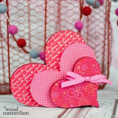 Stacking Valentine's Wood Hearts