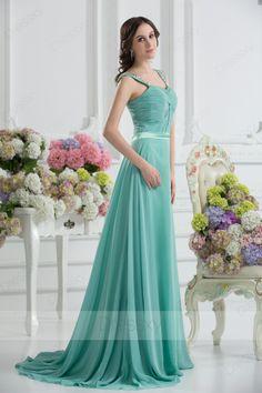 Amazing Princess Floor-length Square Zip-up Chiffon Hunter Evening Dresses