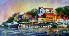Mediterranean Noon — PALETTE KNIFE Oil Painting by AfremovArtStudio, $239.00
