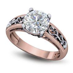 Rose gold diamond ring