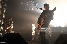 Peter Hayes and Robert Levon Been of Black Rebel Motorcycle Club perform on stage for NME Awards Show at Electric Ballroom on February 3, 2014 in London, United Kingdom.