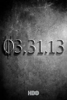 Game of Thrones Returns (Teaserposter for Season 3)