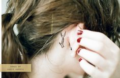 Deer antler tattoo <3 totally adorable