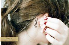 Deer antler tattoo <3 totally adorable