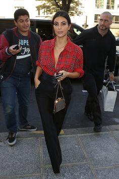 Kim Kardashian takes a moment to dress down at PFW.