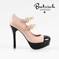 <3 zapato *Dolce Vita* nude & negro <3 Alter Ego / Butrich <3 #corazón #corazones #zapatos #shoe #heart