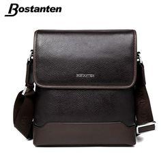 e06179b8496 Bostanten 2017 New Cow Genuine Leather Men Messenger Bag Business Brand  Designer Real Leather Crossbody Handbag Travel Man Bag-in Crossbody Bags  from ...