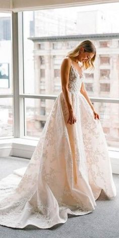 Buy A Line Round Neck Floor Length V Neck Tulle Cheap Wedding Dress with Lace Appliques in uk.Rock one of the season's hottest looks in a burgundy homecoming dress or choose a timeless classic little black dress. Western Wedding Dresses, Long Wedding Dresses, Tulle Wedding, Bridal Dresses, Dream Wedding, Wedding Gowns, Wedding Venues, How To Dress For A Wedding, Cheap Wedding Dress