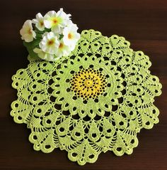 Round tablecloth rustic decor crochet coaster kitchen coasters coffee table doily grandma gift table runner lace crochet lace doily. by HolidayCrochets on Etsy