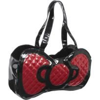 Hello Kitty Black Patent Embossed Red Bow Purse Hello Kitty Purse 9753d6d6e6e53