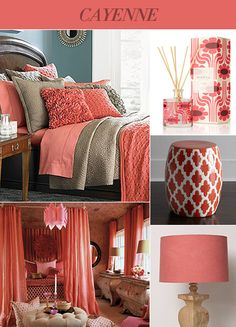 Bedding, Walk Color Or Gray And Cayenne Accents Pictures