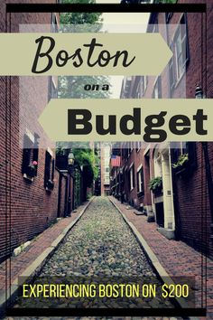Boston is a popular destination. This historic city requires a bit of budget-mindfulness.