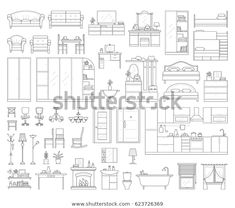 Find Vector Icons Set House Interior Furniture stock images in HD and millions of other royalty-free stock photos, illustrations and vectors in the Shutterstock collection. Thousands of new, high-quality pictures added every day.