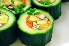 Cucumber Wrapped Veggie Rolls