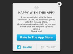 Rate & Share Modal designed by Dan Monaghan. Best Apps, Ios, Inspiration, Biblical Inspiration, Inhalation, Motivation