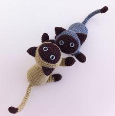 Siamese Cat  Amigurumi Cat by ZenHappyBaby on Etsy, €18.00