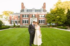 Take photos in front of your venue. Susanna and Paul's Joyful Wedding at the Bradley Estate » Fucci's Photos of Boston | Boston Wedding Photographer