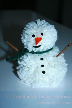 Bonhomme de neige pompon