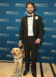 Charlie Cox/Matt Murdock. He FINALLY listened to Foggy and got a dog XD