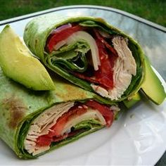 California Club Chicken Wraps Allrecipes.com   For the sauce, Try Hellman's reg. mayo and nonfat Greek plain yogurt. Add some roasted red bell pepper if you happen to have some--it's AWESOME.