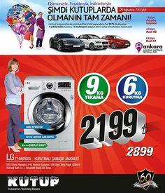Şimdi #KUTUPlarda #ShoppingFest'e özel! | 9 kilo yıkama 6 kilo kurutma kapasiteli, LG Kurutmalı Çamaşır Makinesi 700 TL indirimle!