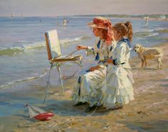 Alexander Averin - Painting by the sea