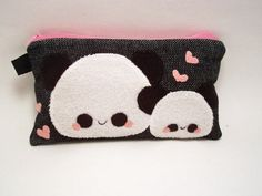 Back to School Trend: Pandas! Kawaii panda pencil case at Quacked Etsy shop