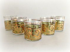 Culver Glassware Toledo Old Fashioned Gold by vintage19something, $44.00