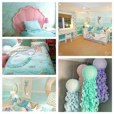 d6d1dc0fbe018847d7cf56a4754e4fb8.jpg 736×736 pixels Mermaid Girls Rooms, Little Mermaid Nursery, Baby Mermaid, Mermaid Bedroom Decor, Mermaid Wall Decor, Mermaid Bathroom, Mermaid Bedding, Sea Theme Bedrooms, Girls Bedroom